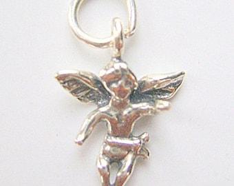 Charm,Sterling, Silver, ANGEL, Charm, Religious,Cherub, 1 Piece,c