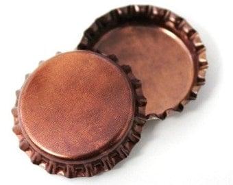 50 Copper Patina Bottle Caps New Unused Craft Bottlecaps