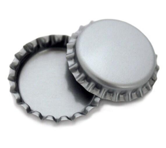100 silver blank bottlecaps bottle cap bottlecap caps chrome for Pictures of bottle caps