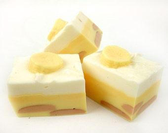 BIG Banana Pudding - Hunk of Goat's Milk Soap Bar
