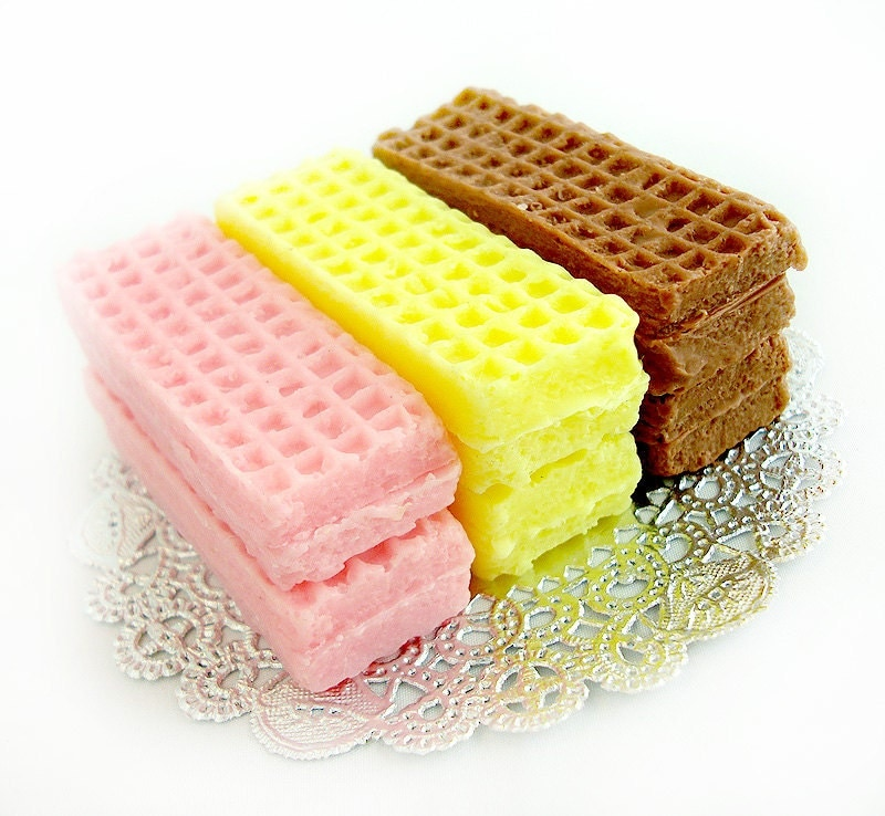 Sugar Wafer Cookies Mini Guest Soaps by soapopotamus on Etsy