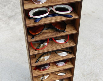 10ct Sunglasses Organizer Display Rack Stand Case Box Drawer Eyewear Holder Sunglass Shelf HANDMADE in Tx