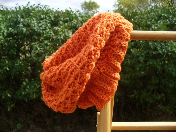 EXPIRES 1/9 - On Sale - Carrot Orange Crocheted Slouch Hat