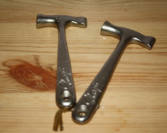 2 Miniature Metal/Pewter Hammer and Axe By Sharps