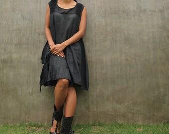Breeze Dress...Black mix silk (one size fits M-L)
