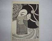 Don Blanding - 1941 print - Scheherezade, Art Deco Woman