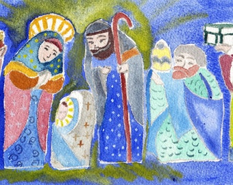 Christmas cards made from original watercolor paintings