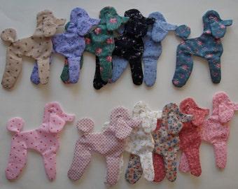 Poodles Appliques for Quilts  Set of 12  Style 2  Lot 226