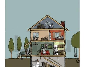 Bunny House Section Print