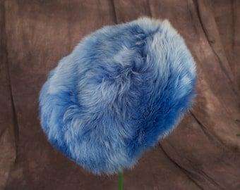 Vintage Blue Sheepskin Hat Woodward and Lothrop