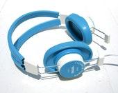 Vintage Old School Head Set - Classroom Telex Audio Fidelity Aqua Earphones
