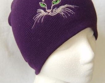 Kitten Face Beanie Skull Cap