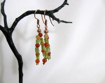 Colorful Gemstone Earrings RKM179 RKMixables Copper Collection