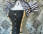 Black White Circus Pirate Stripe Tie On Shrug