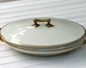 W H Grindley  White Covered Casserole