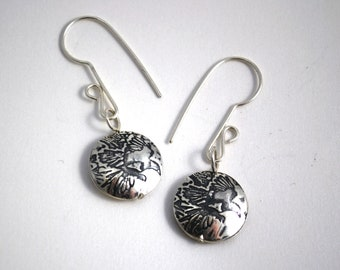 Silver Magpie Drop Earrings