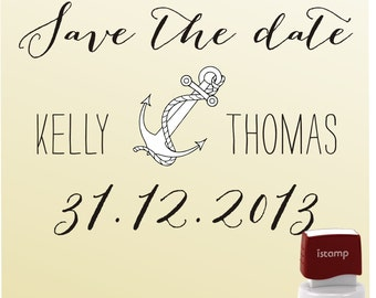 SAVE THE DATE  Self- Inking  Stamp - style 6053- custom wedding stationary