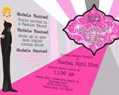 Fashion Show/Model Party Invitation - 5x7 DIGITAL FILE