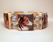 COLLIE BRACELET / Upcycled Handmade SCRABBLE Jewelry / Dog Lover Gift