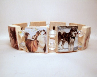 MALAMUTE Bracelet / SCRABBLE / Handmade Jewelry / Dog Lover / Alaskan / Sled Dog