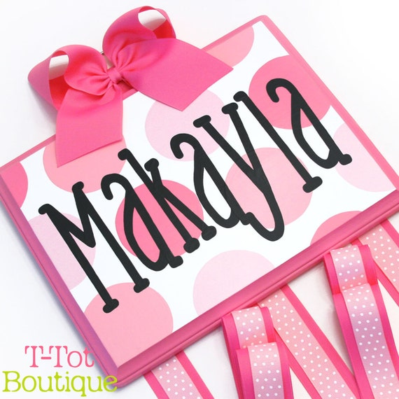 Hair Bow Holder Personalized Custom Hand Painted Boutique Childrens Bow Board Organizer - LARGE