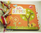 Hello Summer Kids Mini Scrapbook - 10 decorated pages
