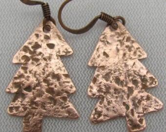 Copper Tree Earrings,Tree Earrings, Copper Earrings.