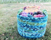 Colorful Cauldron - Perigee Moon (Coiled Rope Basket)