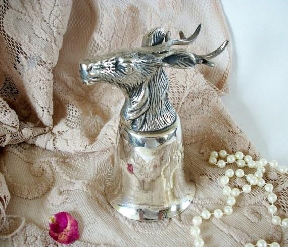 Vintage Deer Goblet, Silver Plated Goblet, Silver Plated Deer Wine Goblet, Woodland Cabin Decor, Deer Collectibles