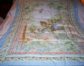 Handmade Beatrix Potter 3 Kittens Cotton Boy Baby/Toddler Quilt-Newly Made 2015