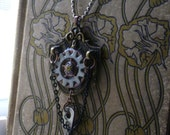 Steampunk Industrial Hardware Necklace Watch Gears Key