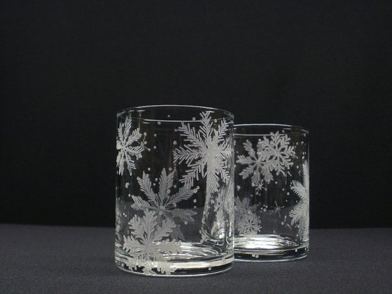 Snowflake Candle Holders 2 . Hand Engraved by daydreemdesigns