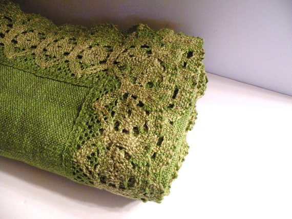 Vintage Moss European Table Linen