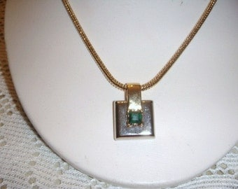 Vintage Park Lane Gold emerald necklace