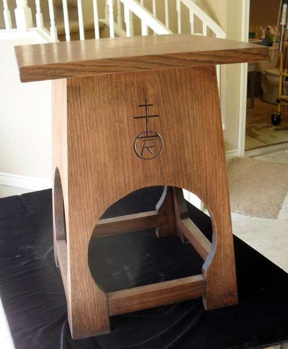 Two Taboret (End Table) after Roycroft for Pamela