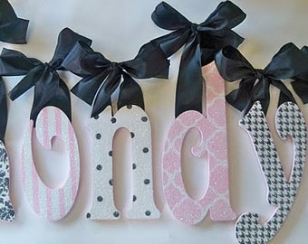 Glitter and Sparkle Nursery Wall Letters