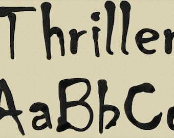 Thriller Alphabet Embroidery Design includes 3 Sizes
