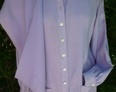 Vintage Anne Klein Lavender Outfit Blouse and Slacks Linen