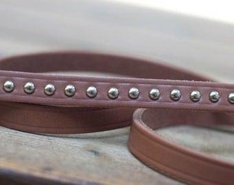 Latigo Brown Leather Lead