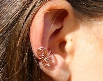 copper spiral earcuff