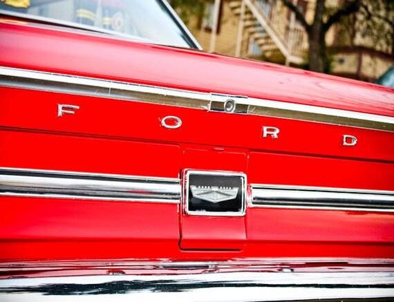 Ford Galaxie Lettering Car Photography, Automotive, Auto Dealer, Muscle, Sports Car, Mechanic, Boys Room, Garage, Dealership Art