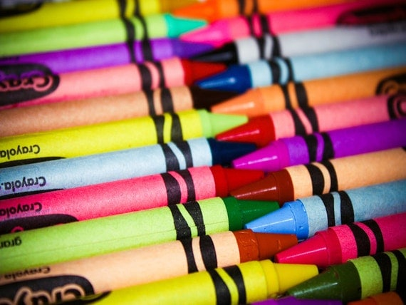 Colorful Crayons Rainbow Delight Fine Art Print- Vintage, Nostalgic, Home Decor, Photography, Gift, Zen