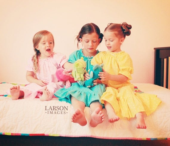 Sweet and Colorful Shirred Nightgown sizes 2-8
