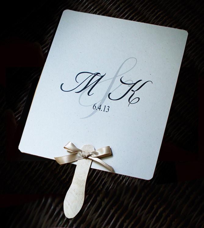 Personalized wedding paddle fan program set by yesumaystationery for Wedding paddle fans