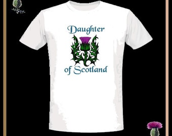 Daughter Of Scotland T-Shirt Thistle Shirt GS18