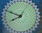 doily clock - retro wall clock