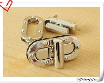 5.5cm twist-locks Purse Flip Locks puse locks SILVER C38