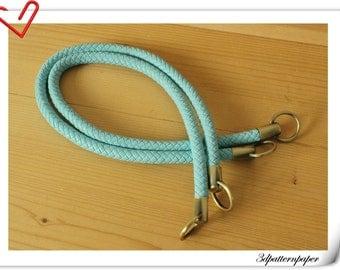25 inch Crochet PU leather handles crochet bag handles a pair Sky blue M41A