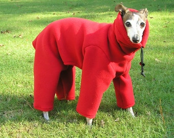 Polartec 300 weight Italian Greyhound Body Suit - Malden Mills small dog suit