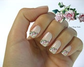 Shabby Very Chic Pink Vintage Roses Nail Art Waterslide Miniature Water Decals - fw-039